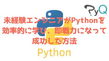 【Pythonの効率の良い勉強方法】PyQ(パイキュー)の口コミ・評判・体験談
